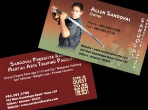 Business card Sandoval Karate