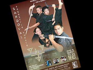 Window Poster Sandoval Karate